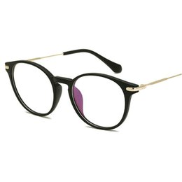 8d46d3278d 2019 anteojos marco redondo unisex Vintage Optical Eye Glasses Women Frame  Myopia Metal Red Unisex Espectáculos