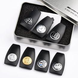chave cobre rav4 Desconto Mercedes benz amg caso chave de volta caso shell B amg apple tree logotipo crachá marca keycase shell chave