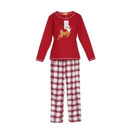 3fa2cc9176771 Popular Fashion Causal Cotton Stripe Crew Neck Family Matching Christmas  Pajamas PJs Set Xmas Sleepwear Nightwear Tops Pants pjs pajamas promotion