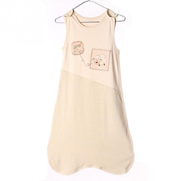 3980d57131 Baby Sleeping Bag Newborn summer Sleeveless Vest bunting bag Embroidery  Cartoon Sheep Kids Anti-kicking baby quilt 0-3Years