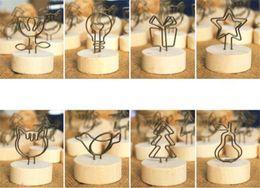 2019 büro bilderrahmen Neue Büro Kreative Runde Holz Eisen Foto Clip Memo Name Karte Anhänger Innenausstattung Bilderrahmen günstig büro bilderrahmen