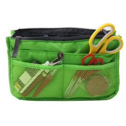 Bolsas de viaje verdes online-Kits de costura grandes del espacio verde con las herramientas de costura Herramientas del bordado del viaje del hogar Bolsa 28 * 15 * 9cm