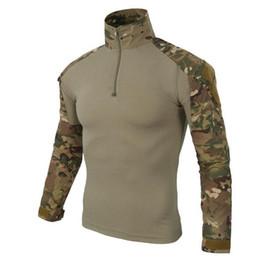 camuflaje de manga larga camisa uniforme Rebajas 2018 US Army Tactical Uniform Camouflage Combat-Proven Camisas Rapid Assault Camisa de manga larga Battle Strike ZH