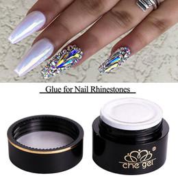 Wholesale Nail Art Adhesive Glue - High Quality Gel 6g Nail Art Rhinestones Gel Glue DIY UV Adhesives Super Sticky for Glitter Crystal Gems, Diamond, Jewelry Nail