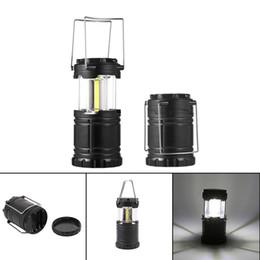 2019 linterna led con pilas COB LED Luz para acampar Estiramiento Linterna para acampar al aire libre Senderismo Lámpara Portátil LED Impermeable Carpa Luz Desarrollado por batería 3 * 3A linterna led con pilas baratos