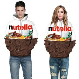 Wholesale Food Hoodie - Hip Hop Hoodie New Autumn Winter Men Women Hoodies With Cap Print Nutella Food Hip Hop Hoodie Hooded 3d Sweatshirts Hoody Tracksuits Tops