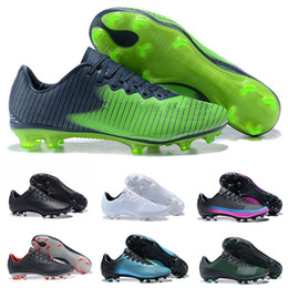 Wholesale Victory Boots - 2018 Cheap Mercurial Vapor XI FG Leather Soccer Shoes Outdoor Superfly Mercurial Victory TF IC Football Cleats Mens Low Ankle Football Boots