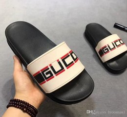 Wholesale hot box covers - Fashion slide sandals slippers for men women WITH ORIGINAL BOX 2018 Hot Designer flower printed unisex beach flip flops slipper BEST QUALITY