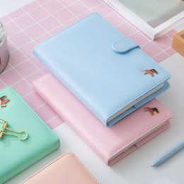Wholesale Agenda Leather Cover - Wholesale- Korean Kawaii Cute Colorful Pages Plan Daily Weekly Monthly Yearly Planner Agenda Dairy Macaron Cover Notebook 2017 Organizer A5