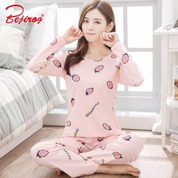 Bejirog pajamas set for women milk silk fabric sleep clothing long sleeve pyjama  suit autumn nightie female nightwear nightdress baac75e58