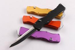 marca de aluminio Rebajas Halotf IV 4 Marca de la espada 9CR18MOV simple acción Mango de aluminio CNC cuchillo plegable automático Cuchillo de Navidad 1 unids envío gratuito