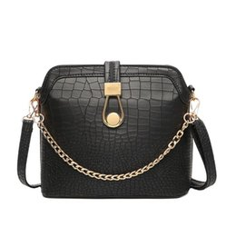 Wholesale Top Chain Straps - Vintage Crocodile PU Leather Women Bag Chain Strap Top-handle Bags Fashion Lock Crossbody Bag Small Shoulder Bag