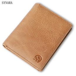 a4398a7375 100% vera pelle piccola Mini ultra-sottile portafogli uomo / donna  portafoglio compatto portafoglio fatto a mano portafoglio carta di vacchetta  design corta ...