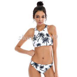 Wholesale Vintage Halter Tops - Sexy Swimwear Women 2018 New Bikini Swimsuit Brazilian Bandage Halter Top Bathing Suits Retro Vintage Print Beach Wear Bodysuit