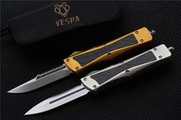Wholesale High Quality Combat Knives - High quality VESPA Combat Troodon Knife Blade:S35VN(S E,D E) Handle:Aluminum+TC4+CF,Outdoor camping survival knives EDC tool,Free shipping