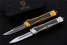 Wholesale Knives Edc - High quality VESPA Combat Troodon Knife Blade:S35VN(S E,D E) Handle:Aluminum+TC4+CF,Outdoor camping survival knives EDC tool,Free shipping
