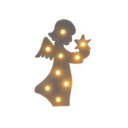 Wholesale Led Nightlights For Kids - New Style Angel LED Night Light For Children Baby Kids Bedside Lamp White Battery Opeed Nightlight Christmas Birthday