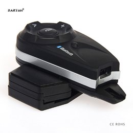 Wholesale Waterproof Mp3 Bluetooth Headphones - Bartun V5 Bluetooth Intercom Wireless Interphone for 5 Riders Vehicle Car Earphone Waterproof Helmet Headsets Moto Headphone MP3
