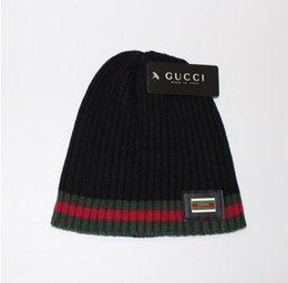 Wholesale Wool Mens Knit Hat - 2018 mens designer hats bonnet winter beanie knitted wool hat plus velvet cap skullies Thicker mask Fringe beanies for men
