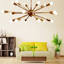 Wholesale Century Free - New Modern Detail Classic Mid Century Modern Pendant Lamp polished Brass Sputnik atomic chandelier star Free Shipping