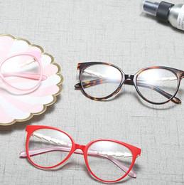 2019 großhandel runde bilderrahmen 2018 Mode Retro Brillen Rahmen Optische Gläser Vintage Diamant Frauen Platz Brillen Rahmen mit Box FML