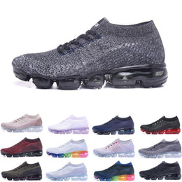 Wholesale hot blue line - 2018 Vapormax Mens Running Shoes sports For Men Sneakers Women Fashion Athletic Sports Shoe Hot Jogging designer shoes Fly line
