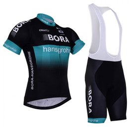 Wholesale Mtb Lycra - 2018 New BORA Pro Team Cycling Jersey Set MTB Short Sleeve Bicycle Cycling Clothing Bike Bib Shorts maillot ciclismo L2702