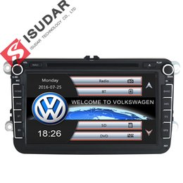 Wholesale Gps Car Navigation Vw - Two Din 8 Inch Car DVD Player For VW POLO PASSAT Golf Skoda Octavia SEAT LEON With Wifi Radio GPS Navigation 1080P Ipod FM Map