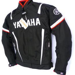 2020 куртка из хлопка Мотоциклетная гоночная куртка для YAMAHA Съемная хлопковая подкладка Мотокросс Верховая езда Одежда Куртка с защитной экипировкой Moto Jaqueta скидка куртка из хлопка