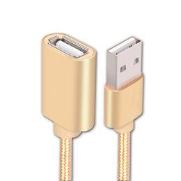 transfert de câble Promotion Câble d'extension USB Mâle à femelle Câble adaptateur femelle Transfert rapide Ligne de données de charge pour imprimante Ordinateurs à disque dur mobiles