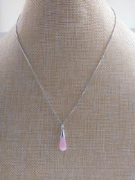 Collar de piedra púrpura colgante online-colgante de piedra preciosa ópalo collar de Apple colgante del goteo del agua atractivo blanco púrpura cadena de color bronce plateado rodio de imitación