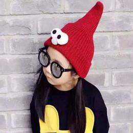 2019 cappello sveglio del bambino sveglio Cute Baby Kids Cartoon Big Eyes Beanie  Hat Inverno Caldo 777cd5e36a6f