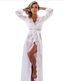 b8680a4f22 New Nightgowns Lace Robe Sleepwear Long Bathrobe Women Dressing Gown  Nightgown