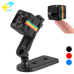 Wholesale wireless camera dvr recorder - SQ11 Mini Camera HD 1080P Night Vision Camcorder Car DVR Infrared Video Recorder Sport Digital Camera Support TF Card DV Camera