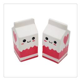Wholesale Apple Box Toys - Jumbo Squishy Milk Phone Straps Milk Box Carton Squishies Slow Rising Phone Straps Pendant Sweet Cream Scented Bread Kid Toys Gift Free DHL