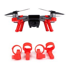 Wholesale Dji Drone - 4PCS Quick Disassembly Elevation Stand Intelligent Aircraft Heightened Landing Gear Extended Holder For DJI SPARK camera Drone-Black