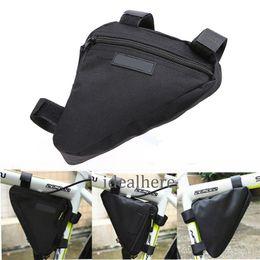 caso della borsa della bici Sconti htsport Triangolo della bicicletta della bici tubo della parte anteriore della montatura Pouch Bag Sella Case nero