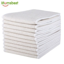 Wholesale diaper organic - [Mumsbest]10pcs & Organic coon Inserts 4 Layers Reusable Insert For Baby Cloth Diaper Babies Nappy Inserts Size: 14x35CM