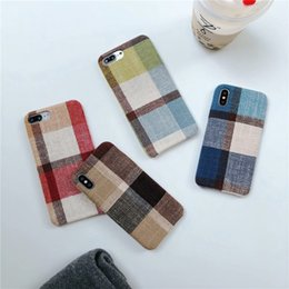 2019 iphone 8x 2018 tela de cuadros estilo coreano de moda para el iphone xs max caso iphone xr pareja ipx creativo 8x caso suave ix silicona de buena calidad rebajas iphone 8x