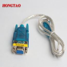 Wholesale Usb Db9 - Supports Windows 8 USB to RS232 cable and DB9 9pin Serial w  Female Adapter No CD With DB9 female to 0.8m For computer