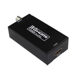 Wholesale Sdi Box - 2pcs lot Mini 3G 1080P HDMI to SDI SD-SDI HD-SDI 3G-SDI HD Video Converter With Power Adapter In Retail package