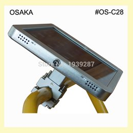 Wholesale Pipe Display Stands - for iPad Pro air security pipe clamp stand display mount circular tube mounting holder lock tubular support safe enclosure