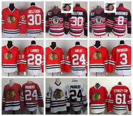 b627cd1e2 Vintage Chicago Blackhawks 30 Ed Belfour 20 BOB PROBERT 8 Bill Mosienko 28  Steve Larmer 3 Keith Magnuson 24 Martin Havlat Hockey Jersey black  blackhawks ...
