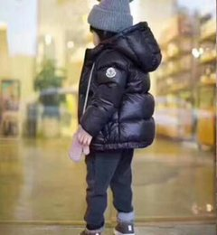Wholesale girls feather jacket - free shipping 2018 new coming 90% duck feather Ultra light Boys Girls children's Autumn Winter jackets Baby down coat Jackets outerwear