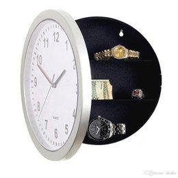 versteckendes design Rabatt Großhandels-modernes Design mechanische Uhr Safe Aufbewahrungsbox Uhr Kunststoff Schmuck Geld versteckt geheimen Stash Safe Box Wanduhr