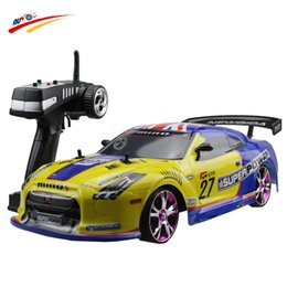Wholesale Nissan Racing - Large RC Car 1:10 High Speed Racing Car For Nissan GTR Championship 2.4G 4WD Radio Control Sport Drift Racing electronic toy