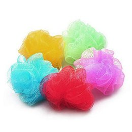 Wholesale Wholesaler Sites - Multicolour Bath Ball Bath Site Tubs Cool Ball Towel Scrubber Body Cleaning Mesh Shower Wash Sponge Product 1pc