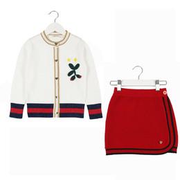 Canada 2019 automne nouvelle petite jupe de costume de vent pull costume bébé deux ensembles de marée supplier wind skirts Offre