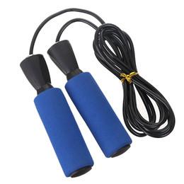 cordas rápidas Desconto Sponge handle Jump Ropes Esportes Fitness Ajustável Velocidade Rápida Contando Salto Pular Corda Treinamento Físico Pular Fio Homens Mulheres
