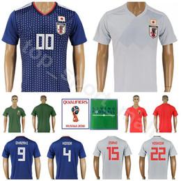 Wholesale honda jerseys - 2018 World Cup Japan Soccer Jersey Japanese Football Shirt Kits Men 9 OKAZAKI 4 HONDA 15 OSAKO 17 HASEBE 22 YOSHIDA Custom Name Number Blue